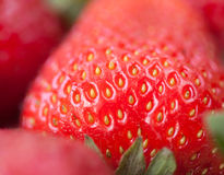 Beautiful strawberry healthy natural fresh food Stock Images