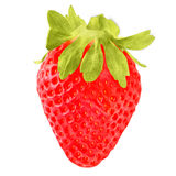 Beautiful strawberry isolated on white background. Fruits and vegetables isolated on white background as package design element. Healthy eating stock photography