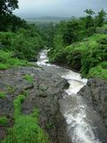 Beautiful Stream. And surrounding Scenery in Monsoon Stock Photography
