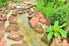Beautiful stream in the garden Royalty Free Stock Images