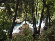 A Beautiful stream in the heart of Krka Croatia. Stock Photos
