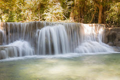Beautiful stream waterfalls in deep forest jungleDeep forest stream waterfalls in national park of ThailandStream waterfalls close Stock Images