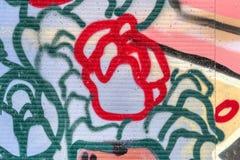 Beautiful street art graffiti. Abstract creative drawing fashion Stock Photos