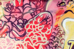 Beautiful street art graffiti. Abstract creative drawing fashion royalty free stock photography