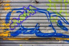 Beautiful street art graffiti. Abstract creative drawing fashion Stock Image