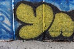 Beautiful street art graffiti. Abstract creative drawing fashion Stock Images