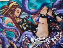 Beautiful street art graffiti Stock Image