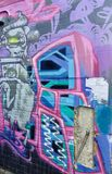 Street art graffiti abstract urban youth skill culture Hobart Tasmania stock photo