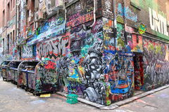 Graffiti street art Melbourne Stock Photo