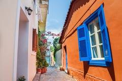 Beautiful street in Athens, Greece Royalty Free Stock Photos