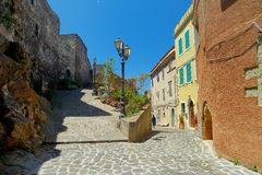 Beautiful street of Castelsardo town Stock Photo