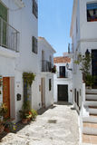 Beautiful street in Frigiliana, Andalusia, Spain Royalty Free Stock Images