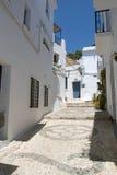 Beautiful street in Frigiliana, Andalusia, Spain Stock Images