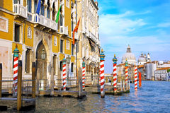 Beautiful street,Grand Canal in Venice, Italy. Beautiful water street - Grand Canal in Venice, Italy royalty free stock photography