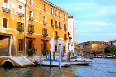 Beautiful street,Grand Canal in Venice, Italy Royalty Free Stock Photography