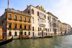 Beautiful street,Grand Canal in Venice, Italy Royalty Free Stock Images