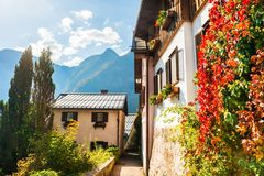 Hallstatt village in Austrian Alps Stock Photos