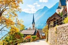 Hallstatt village in Austrian Alps Stock Images