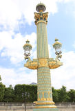 Beautiful Street Lamp at Place de la Concorde Stock Images