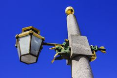 Beautiful street lamp in St. Petersburg, Russia.  Stock Photos