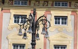 Beautiful Street lantern  on a beautiful vintage building background Royalty Free Stock Photo