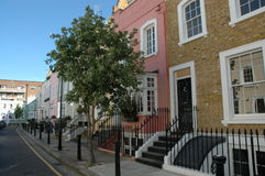 Beautiful street in London. A beautiful street in London royalty free stock image