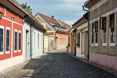 Beautiful street with old buildings in Esztergom, Hungary Royalty Free Stock Photography