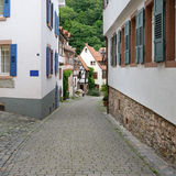 Beautiful street in old town Royalty Free Stock Photos