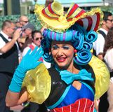 A beautiful street performer at Disneyworld Royalty Free Stock Image