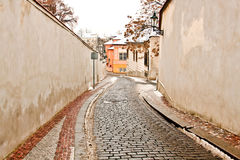A beautiful street in Prague Royalty Free Stock Photography