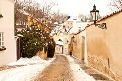 Beautiful street in Prague Stock Photo
