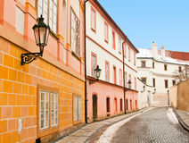 A beautiful street in Prague Stock Photography
