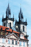 Beautiful street in Prague Royalty Free Stock Photography