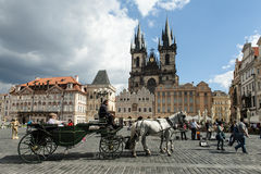 Beautiful street in Prague Royalty Free Stock Images