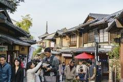 Beautiful street scene around Ninenzaka, Sannenzaka. Kyoto, NOV 26: Beautiful street scene around Ninenzaka, Sannenzaka on NOV 26, 2017 at Kyoto, Japan Stock Image