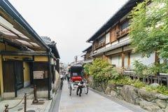 Beautiful street scene around Ninenzaka, Sannenzaka. Kyoto, NOV 26: Beautiful street scene around Ninenzaka, Sannenzaka on NOV 26, 2017 at Kyoto, Japan Royalty Free Stock Photo