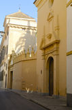 Beautiful street in  Seville Royalty Free Stock Images