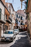 A beautiful street of Sicilian town Royalty Free Stock Images