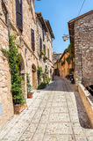 Beautiful street in Spello. Italy Royalty Free Stock Photo