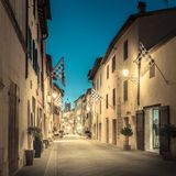 San Quirico D`orcia by night, Tuscany Royalty Free Stock Image