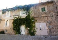 Beautiful street in Valldemossa, famous old mediterranean villag Stock Images