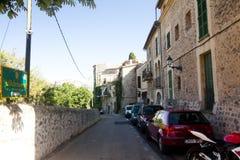Beautiful street in Valldemossa, famous old mediterranean village of Majorca Spain. Royalty Free Stock Photo