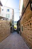Beautiful street in Valldemossa, famous old mediterranean village of Majorca Spain. Stock Image