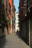 A beautiful street of Venice Italy Stock Image