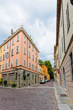 Beautiful street view in Parma. Royalty Free Stock Photo