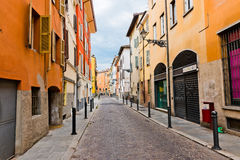 Beautiful street view in Parma. Stock Images