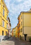 Beautiful street view in Parma. Royalty Free Stock Images
