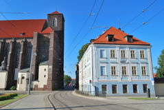 Beautiful street in Wroclaw Stock Images