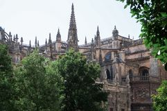 Beautiful streets and attractions of the wonderful city of Seville stock photo