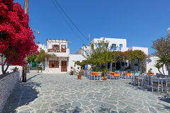 Beautiful streets of Folegandros , Greece Stock Photo